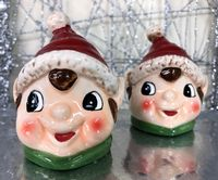 ELF  Ceramic Salt & Pepper Pot Christmas Cruet Set